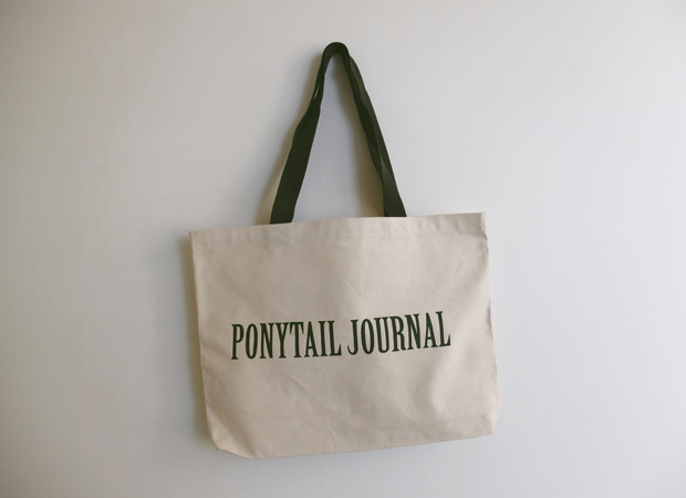 PONYTAIL JOURNAL TOTE BAGS / SOLD OUT!