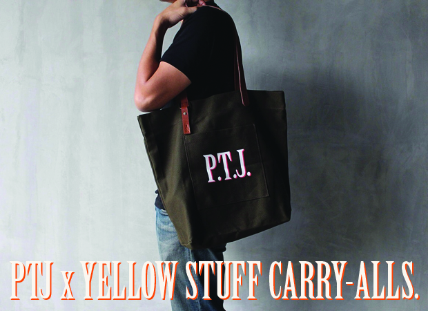 PTJ x YELLOW STUFF CARRY-ALLS ARE HERE! / PTJ SUPPLIES CLOSET