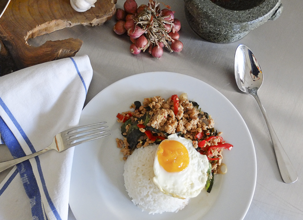 THAI HOLY BASIL FRIED CHICKEN (GAI PAD GRAPAOW)